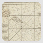Las islas de Verd del cabo Pegatina Cuadrada