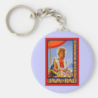 Las islas del ~ de Java y de Bali del vintage romá Llavero Redondo Tipo Pin