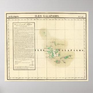 Las Islas Galápagos Oceanía ningunos 17 Póster