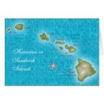 Las islas hawaianas felicitación