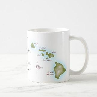 Las islas hawaianas taza básica blanca