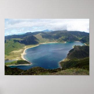 Las islas Lagoa de Azores hacen el poster de Fogo