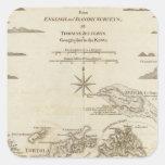 Las Islas Vírgenes Calcomanía Cuadradas