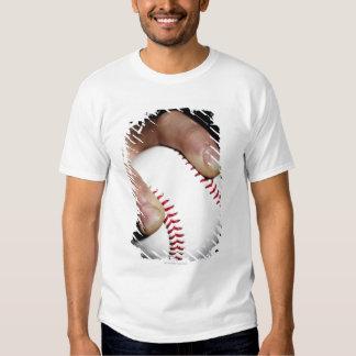 Las jarras dan agarrar un béisbol remeras
