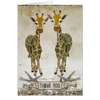 Las jirafas del oro le agradecen Notecard