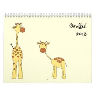 Las jirafas hacen calendarios 2013. Dibujos animad