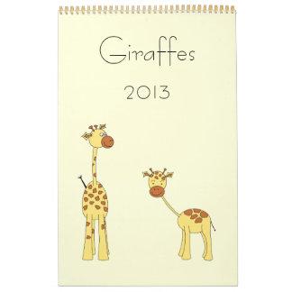 Las jirafas hacen calendarios 2013. Historietas li