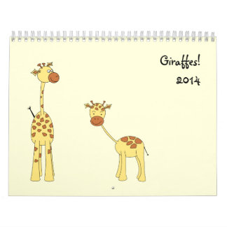 Las jirafas hacen calendarios 2014. Dibujos animad