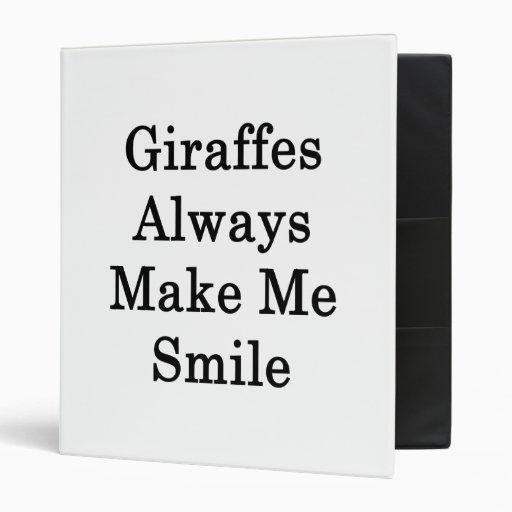 Las jirafas hacen siempre que sonríe