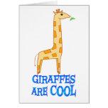 Las jirafas son FRESCAS Felicitación