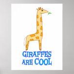 Las jirafas son FRESCAS Posters