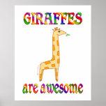 Las jirafas son impresionantes impresiones