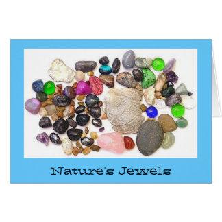 Las joyas de la naturaleza tarjeta de felicitación