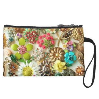 Las joyas florales del vintage diseñan el mini bol