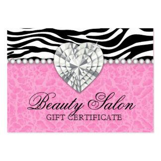 Las joyas gotean la tarjeta de regalo del rosa del tarjeta de visita