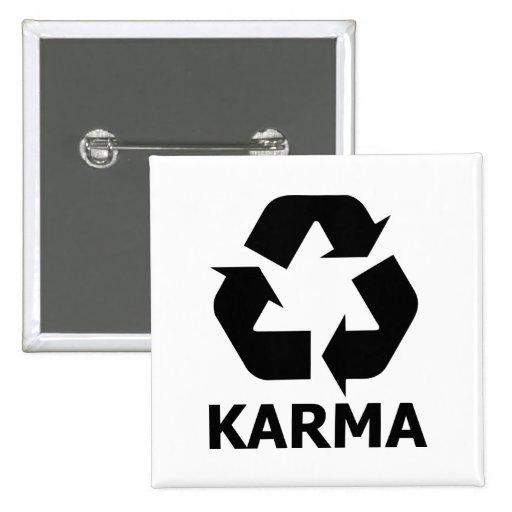 Las karmas reciclan pin