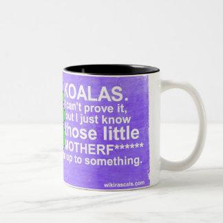 Las koalas están hasta algo taza de café