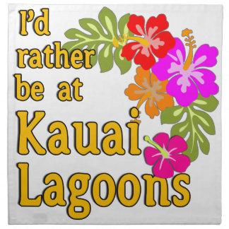Las lagunas de Kauai estaría bastante en la laguna Servilletas