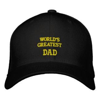 Las LANAS bordadas más grandes del gorra del papá Gorro Bordado