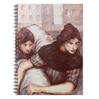 Las lavanderas, 1898 (en colores pastel en lona) note book