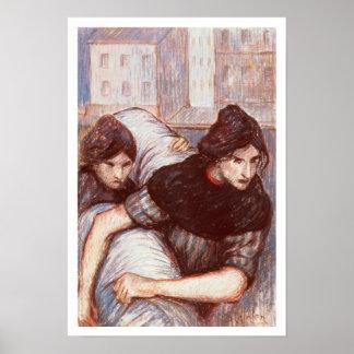 Las lavanderas, 1898 (en colores pastel en lona) posters