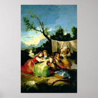 Las lavanderas antes de 1780 posters