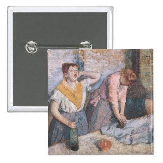 Las lavanderas, c.1884 pin cuadrada 5 cm