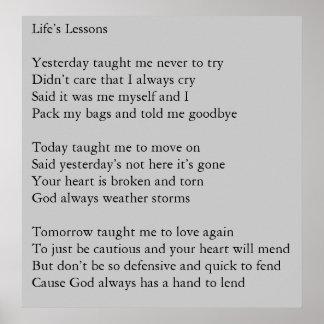 Las lecciones de la vida póster