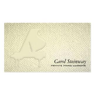 Las lecciones de piano texturizaron mirada tarjetas de visita