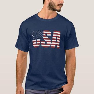 Las letras de los E.E.U.U. hacen la bandera Playera