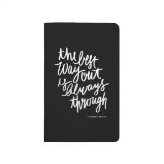 Las letras del cepillo de la cita de las cuadernos