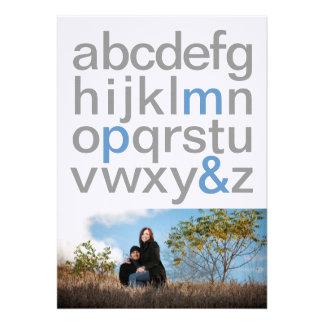 Las letras simples 5x7 ahorran las invitaciones de