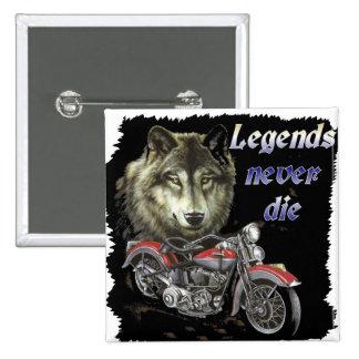 las leyendas nunca mueren pin cuadrada 5 cm