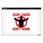 Las leyes del arma no trabajan calcomanías para 38,1cm portátiles