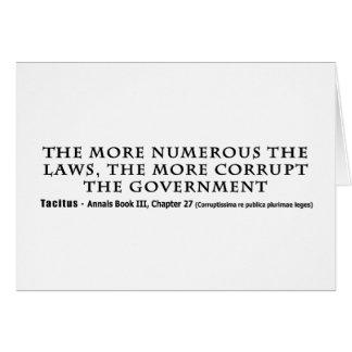 Las leyes más numerosos más gobierno corrupto felicitaciones