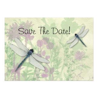 Las libélulas azules ahorran la fecha