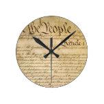 ¡Las libertades constitucionales de los E.E.U.U. - Reloj De Pared