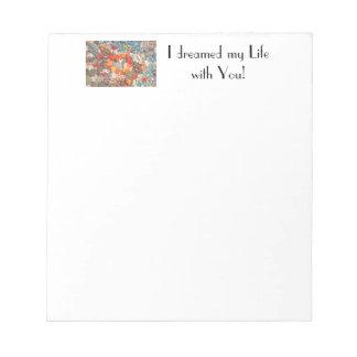 Las libretas personalizadas soñaba mi vida con ust bloc de papel