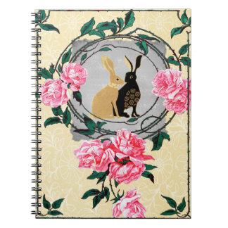 Las liebres del Jackrabbit de la fantasía subió el Cuaderno