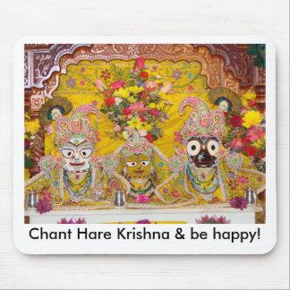 ¡Las liebres Krishna del canto y sean felices! Tapetes De Raton