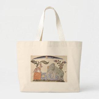 Las liebres y el elefante bolsa tela grande