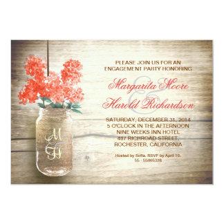 las lilas en fiesta de compromiso rústico del invitación 12,7 x 17,8 cm