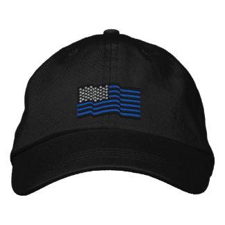 Las líneas azules finas casquillo bordado gorra bordada