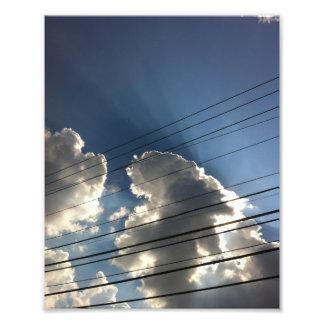 Las líneas de dios en el cielo fotografías