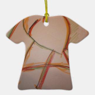 Las líneas de domingo adorno de cerámica en forma de camiseta