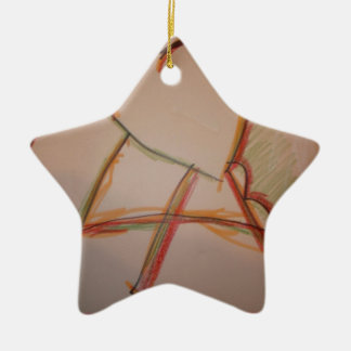 Las líneas de domingo adorno de cerámica en forma de estrella