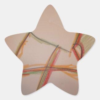 Las líneas de domingo pegatina en forma de estrella