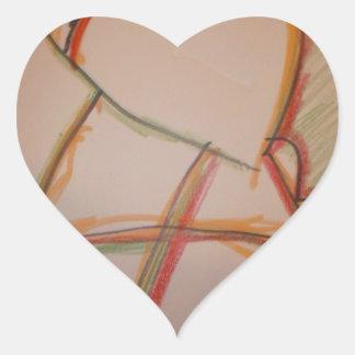 Las líneas de domingo pegatina en forma de corazón