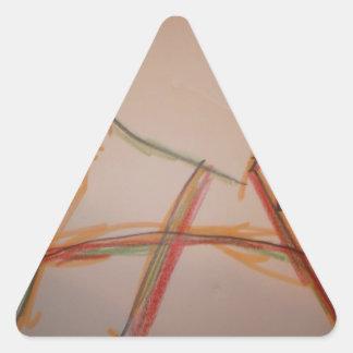 Las líneas de domingo pegatina triangular