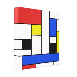 "Las líneas de Mondrian envolvieron la lona 12"" X12 Impresión En Lienzo"